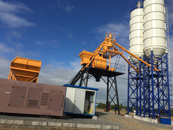 75m3/h concrete batching plant commissioning in manila today