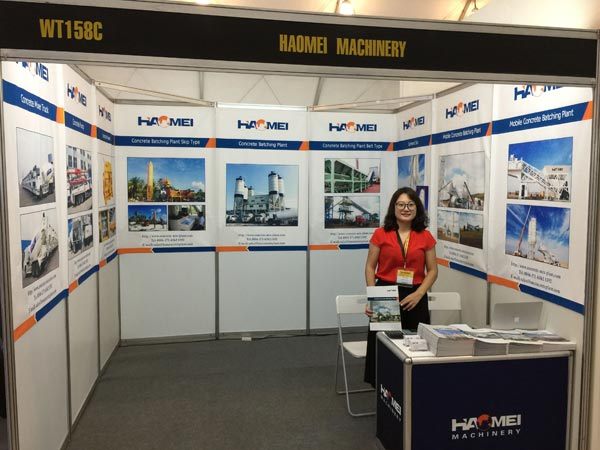 Haomei attend the construction equipment exhibition 2016 in Manila Philippines