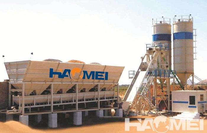New free base type concrete batch plant for sale