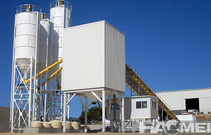 Stationary concrete mixing plant factory teach you to establish foundation